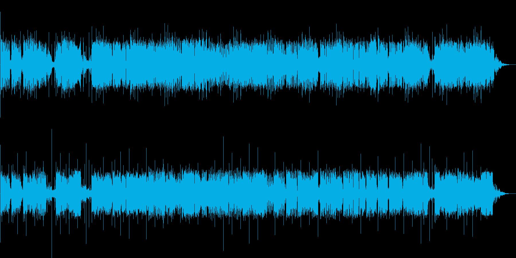 太鼓と笛の民族的な曲の再生済みの波形