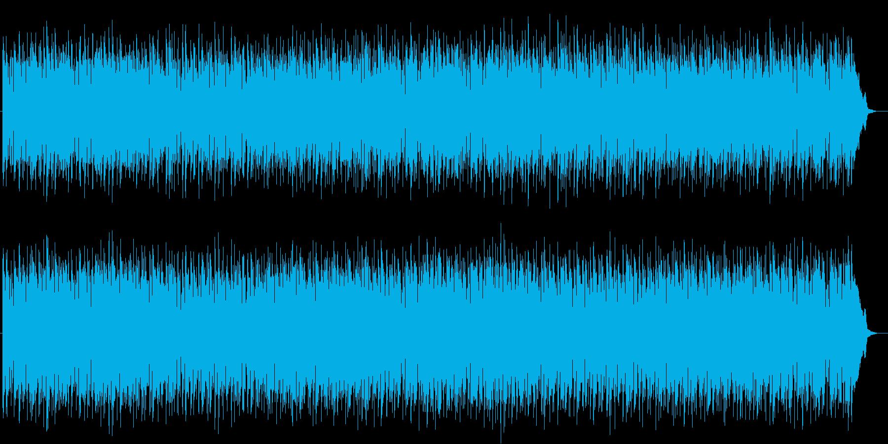お洒落なカフェミュージック的なボサノバの再生済みの波形