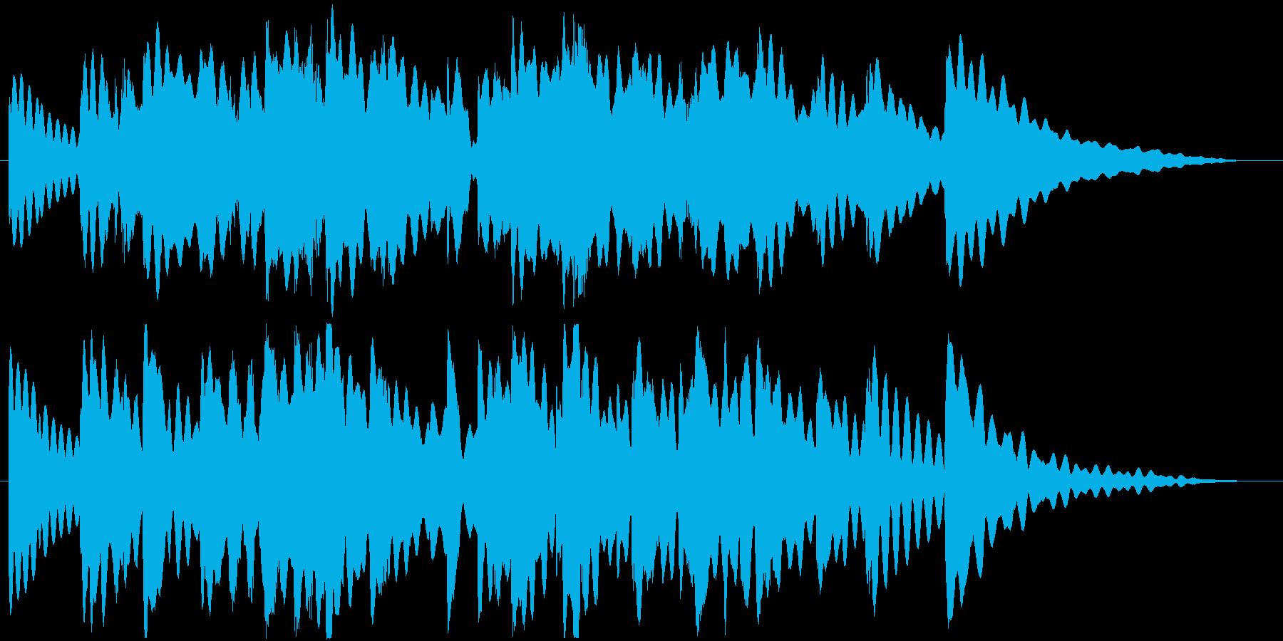 ヒーリング楽曲です。24bit,48k…の再生済みの波形