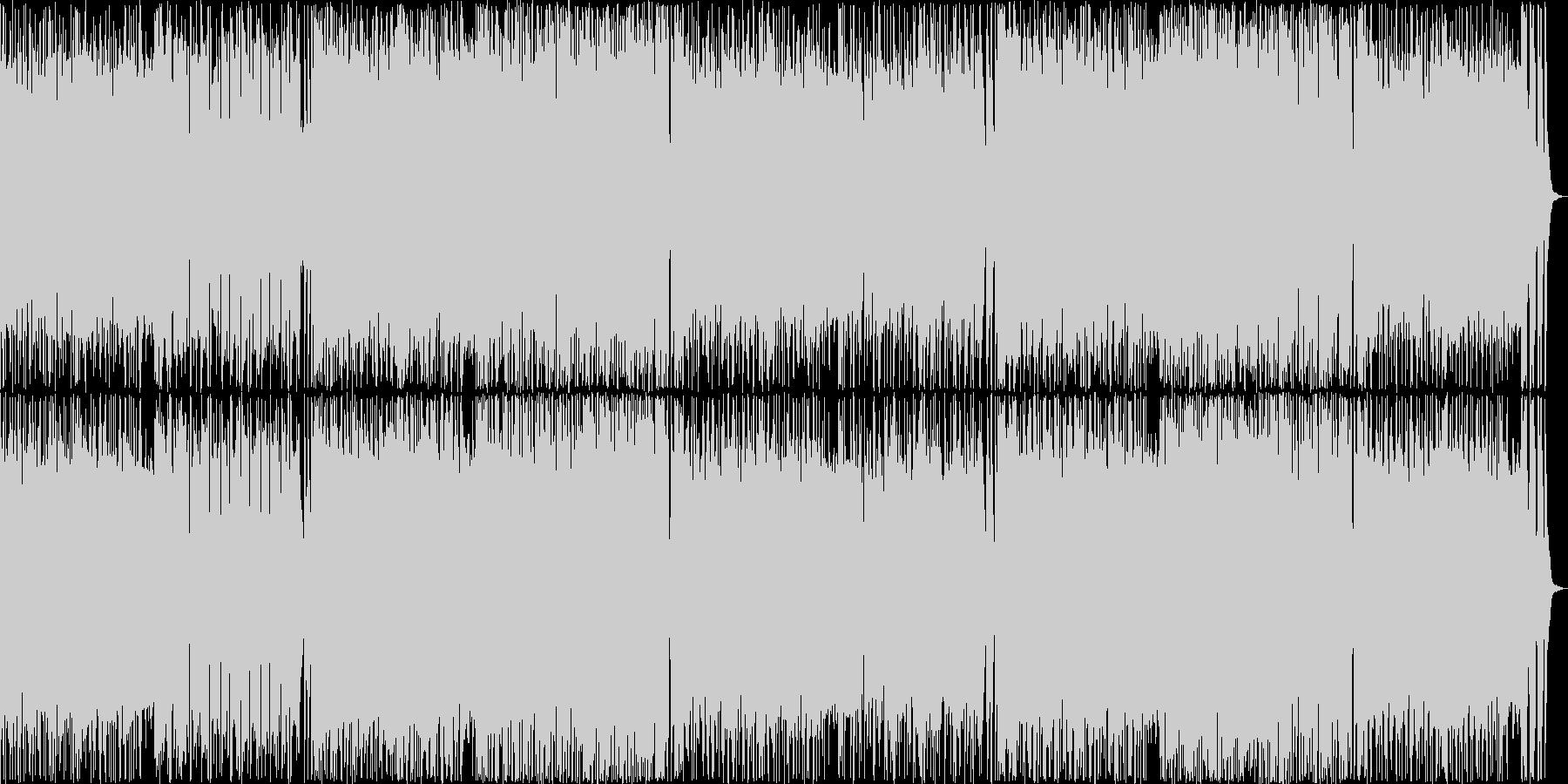 サックスが印象的なフュージョンの未再生の波形