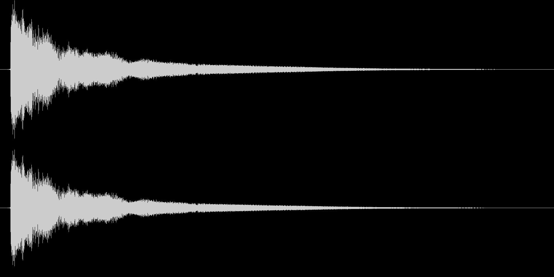 金的 (カーン)の未再生の波形