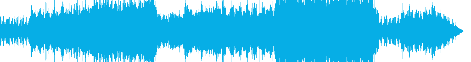 オーケストラのかっこいいゲーム用戦闘曲の再生済みの波形