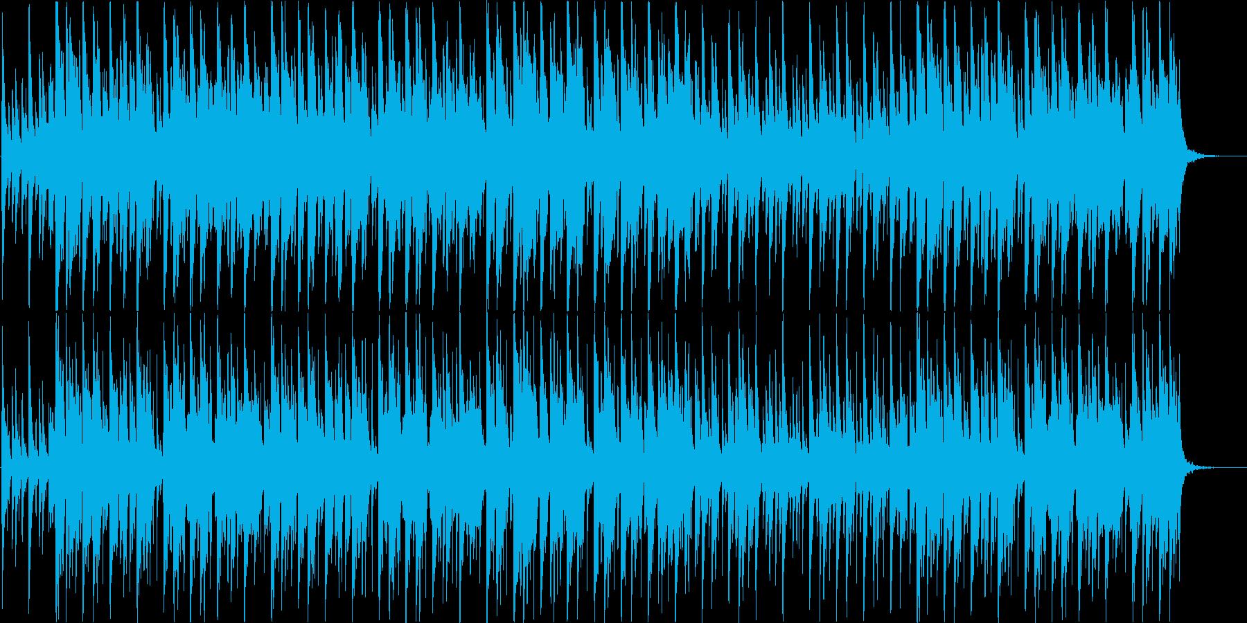 のんびりとした和風の日常系BGMの再生済みの波形