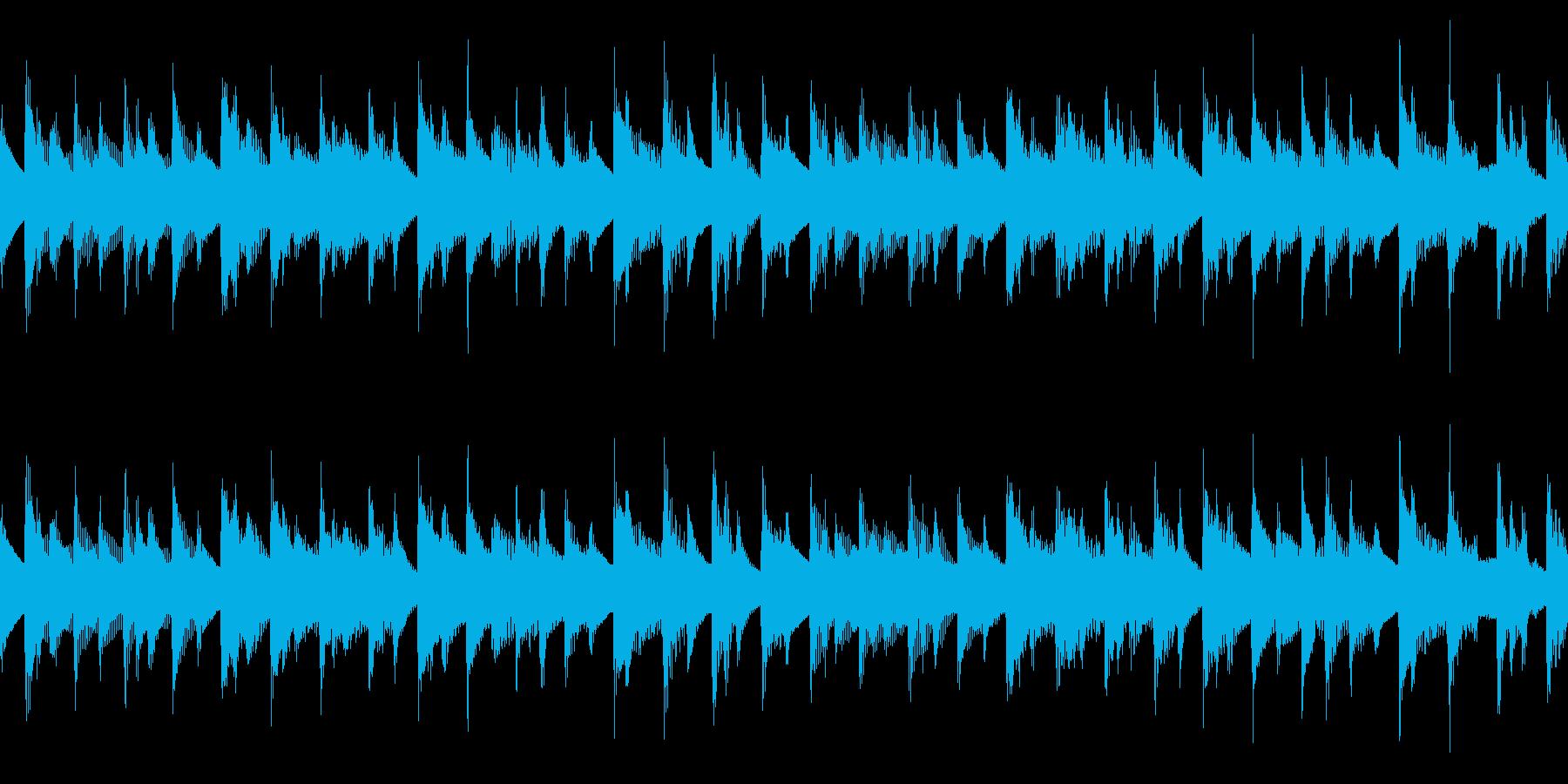 アコギの陽気な伴奏のシンプルなループ曲の再生済みの波形