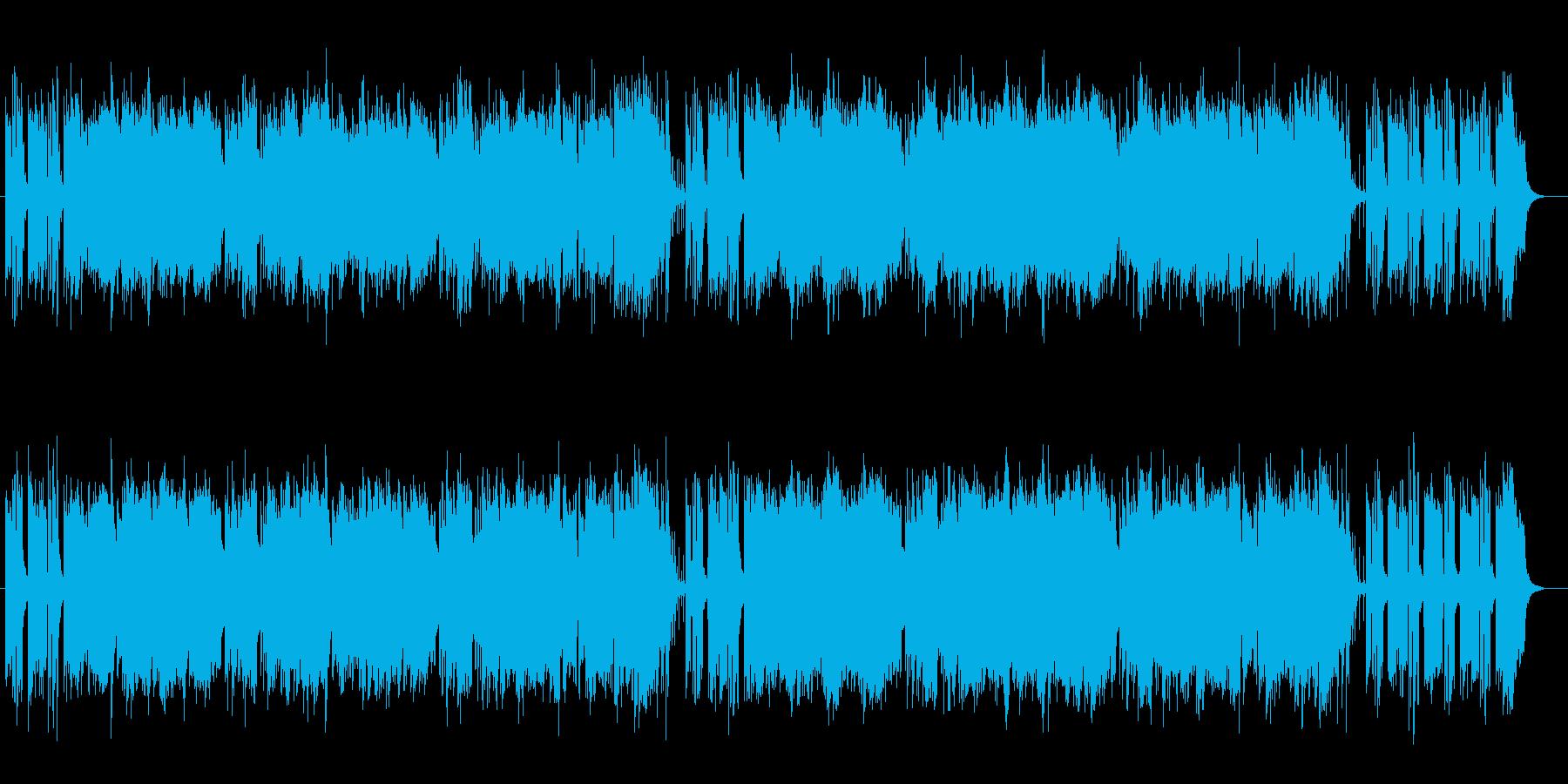 緩やかで軽快なピアノとアコギサウンドの再生済みの波形