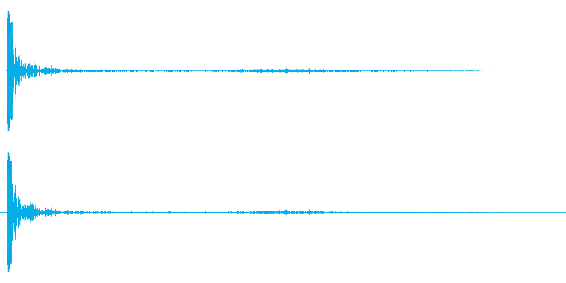 打ち上げ花火(ドン!ヒュ〜〜パラパラ)の再生済みの波形