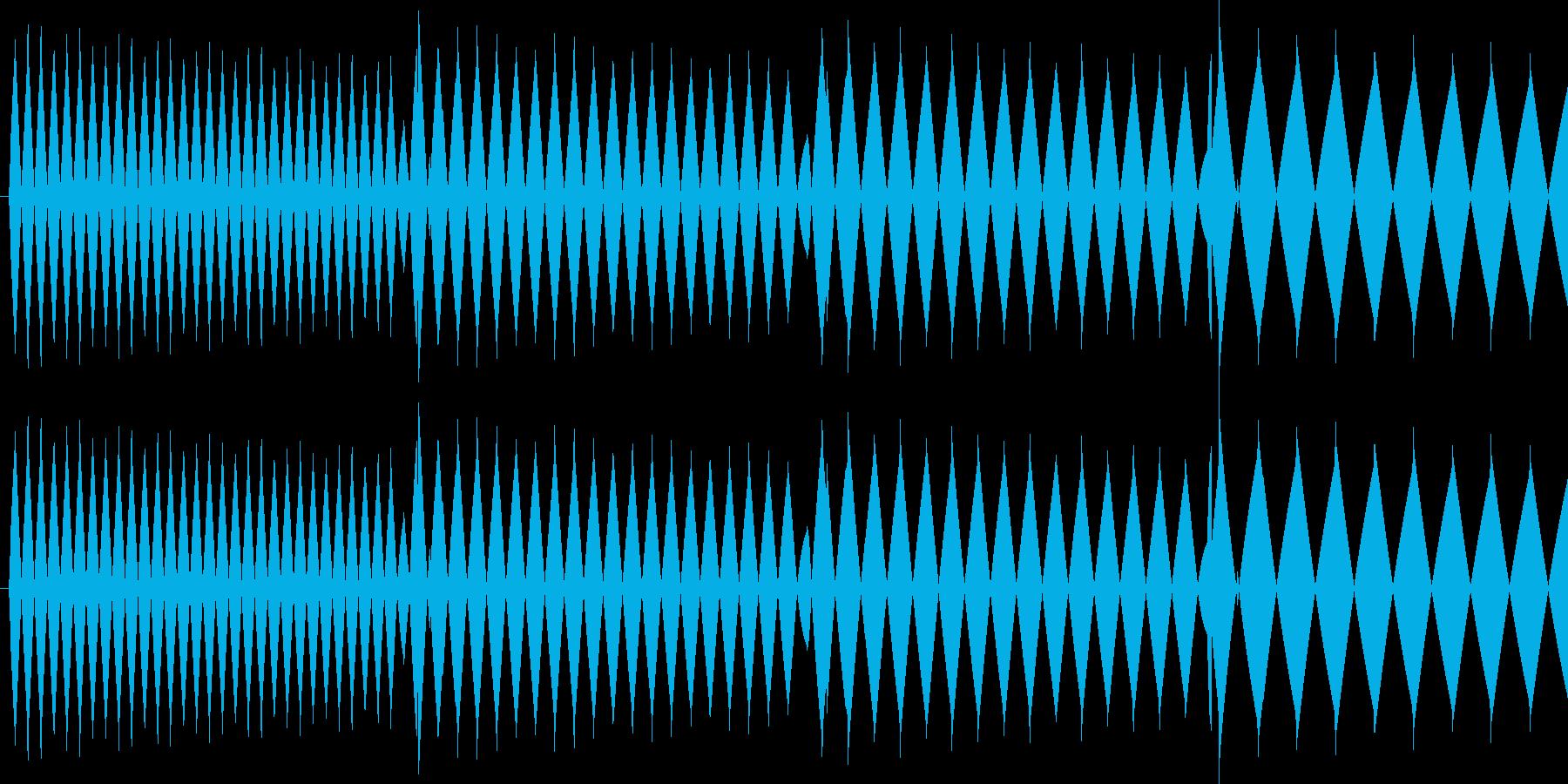 ピロロロ↓低音(攻撃ミス、やり直し)の再生済みの波形