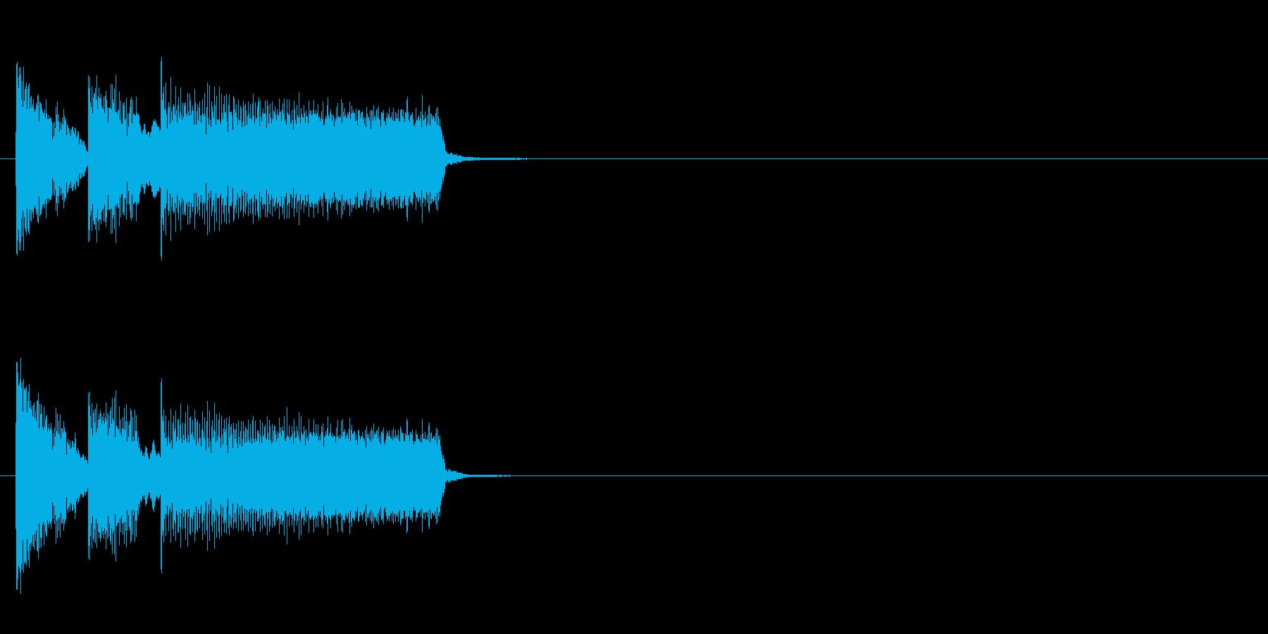 おちゃらけ コミカル クイズ ズッコケの再生済みの波形
