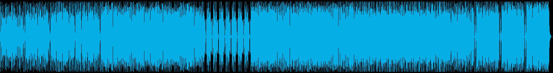 4つ打ちの暗めなダンスミュージックの再生済みの波形