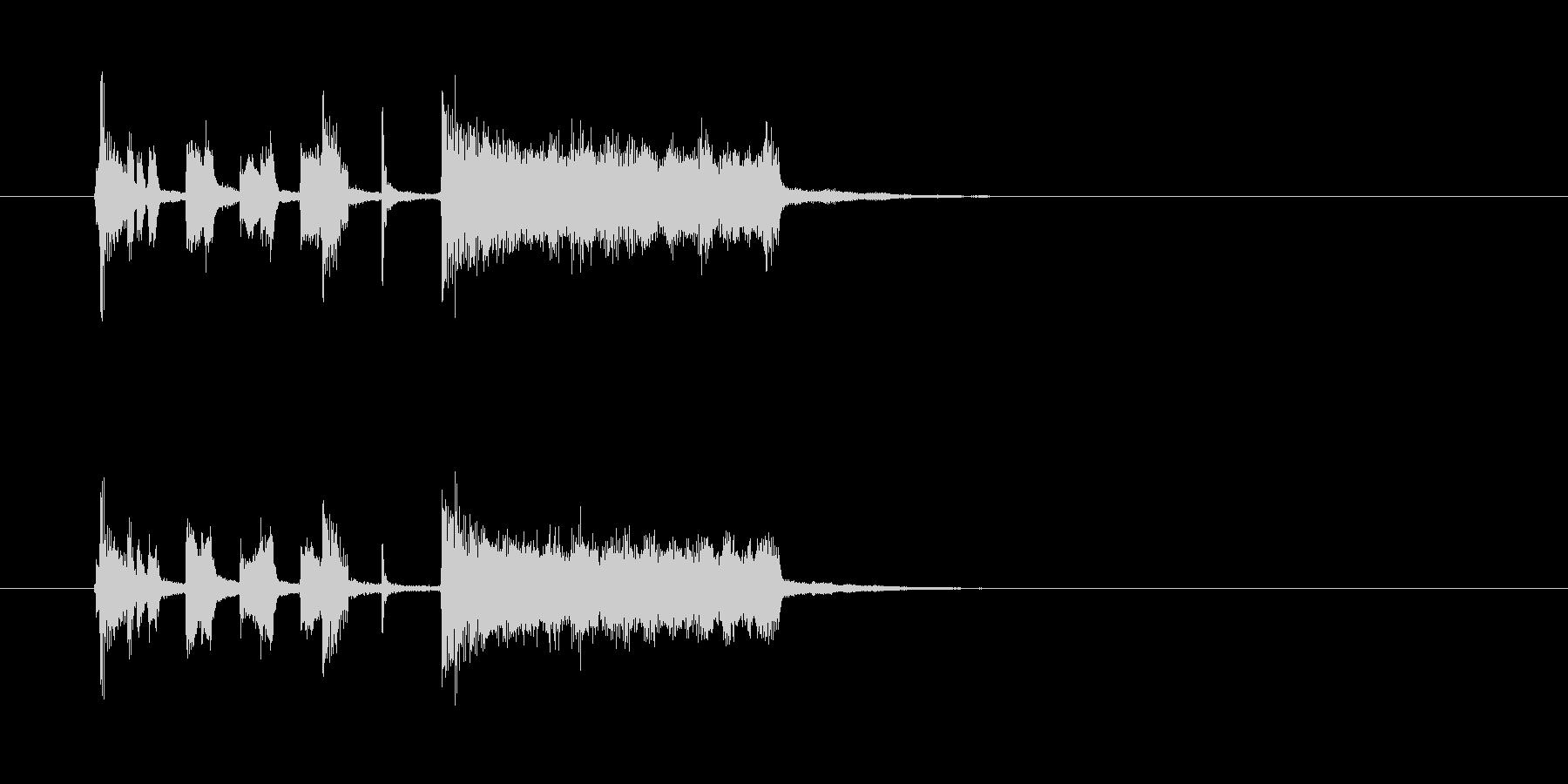 シンセサイザー トランペット コミカルの未再生の波形