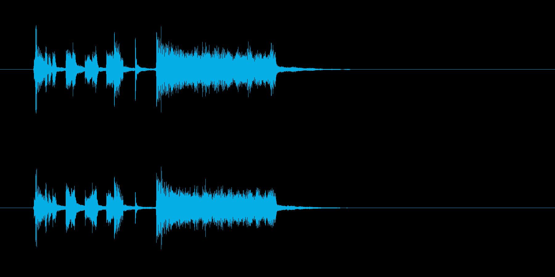 シンセサイザー トランペット コミカルの再生済みの波形
