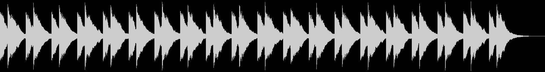 チャイム 鐘の音 キンコン ロング版の未再生の波形