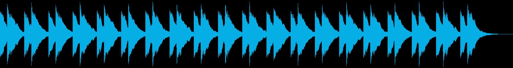 チャイム 鐘の音 キンコン ロング版の再生済みの波形