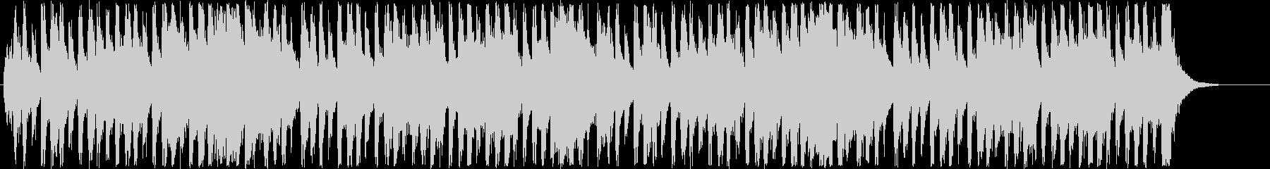 明るいメルヘン調のポップミュージックの未再生の波形