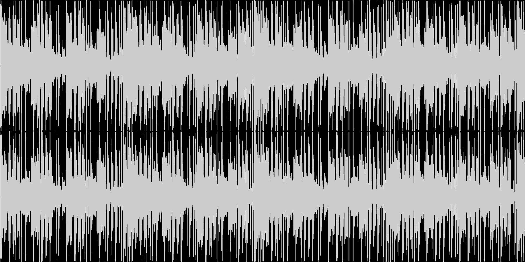 レトロな雰囲気をもったで怪しい曲の未再生の波形