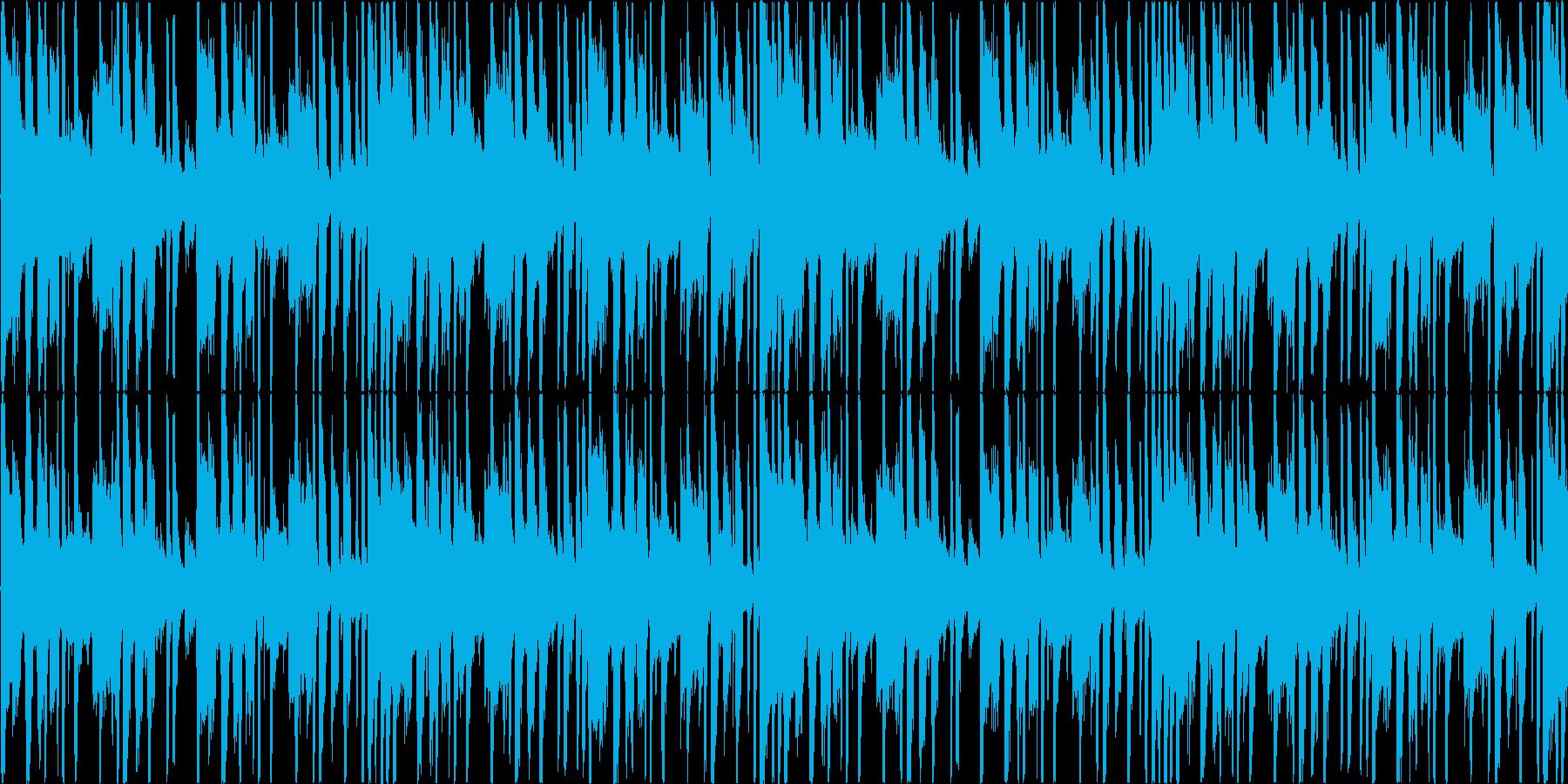 レトロな雰囲気をもったで怪しい曲の再生済みの波形
