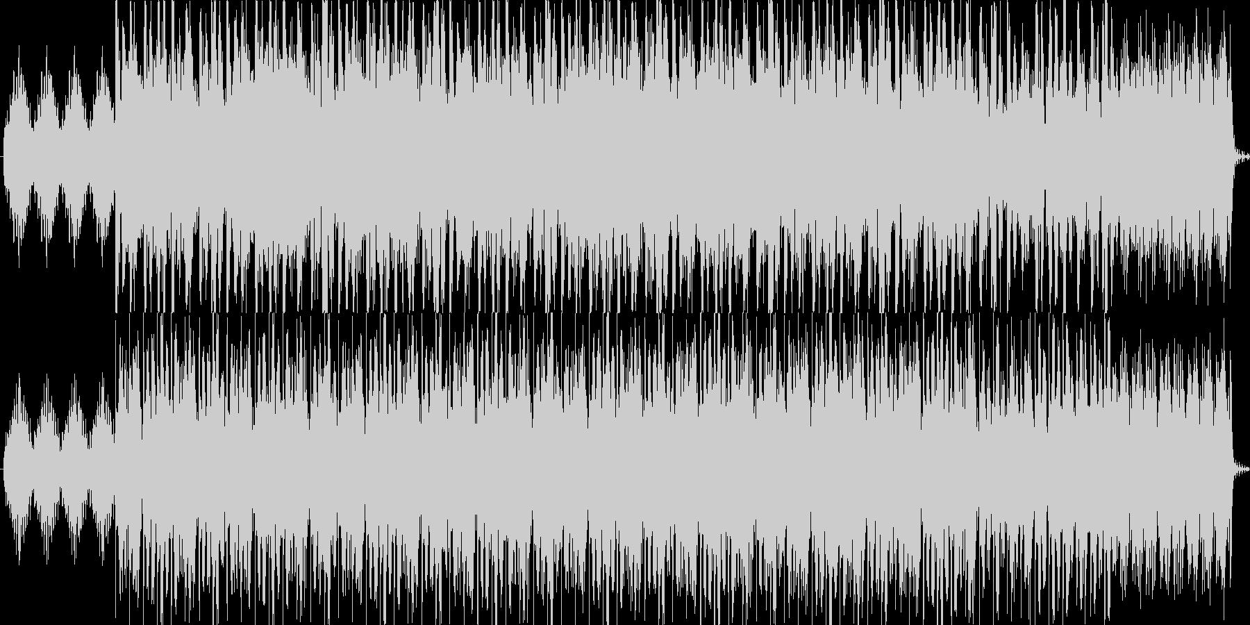 神秘的で幻想的な曲の未再生の波形