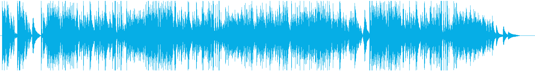 シンプル!わくわくファンシーなピアノ曲の再生済みの波形