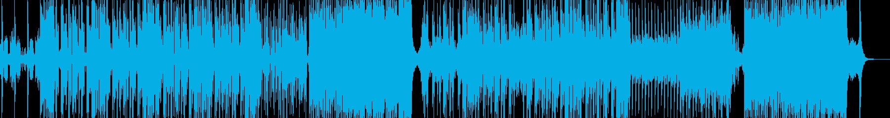 宇宙的なシンセの2ステップの再生済みの波形