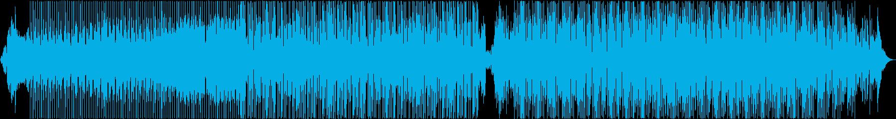 ファンキーでノリのいいダンスBGMの再生済みの波形
