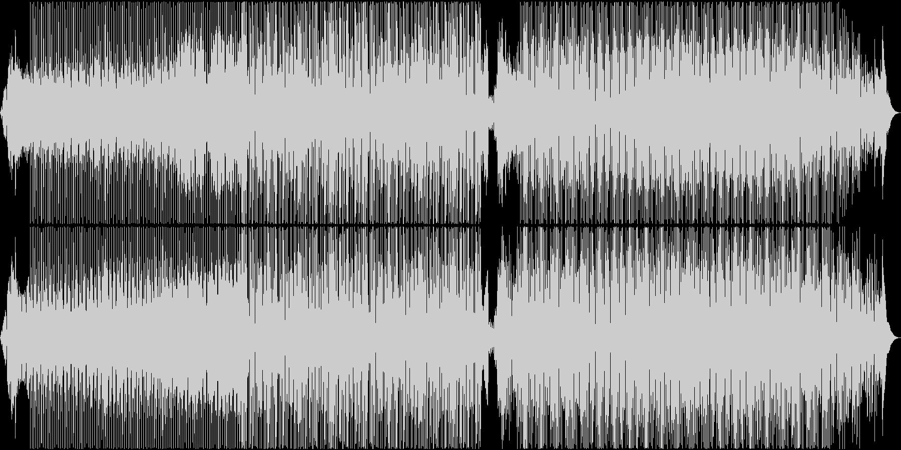 ファンキーでノリのいいダンスBGMの未再生の波形