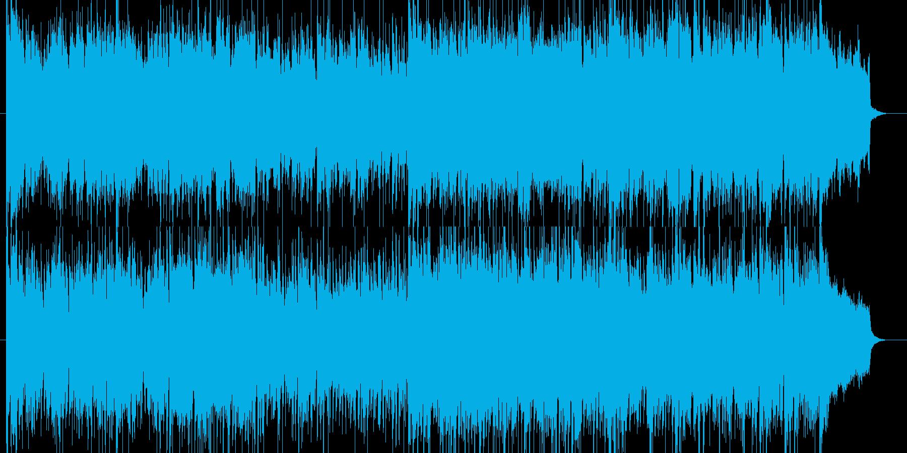 ドタバタアクションコメディの再生済みの波形
