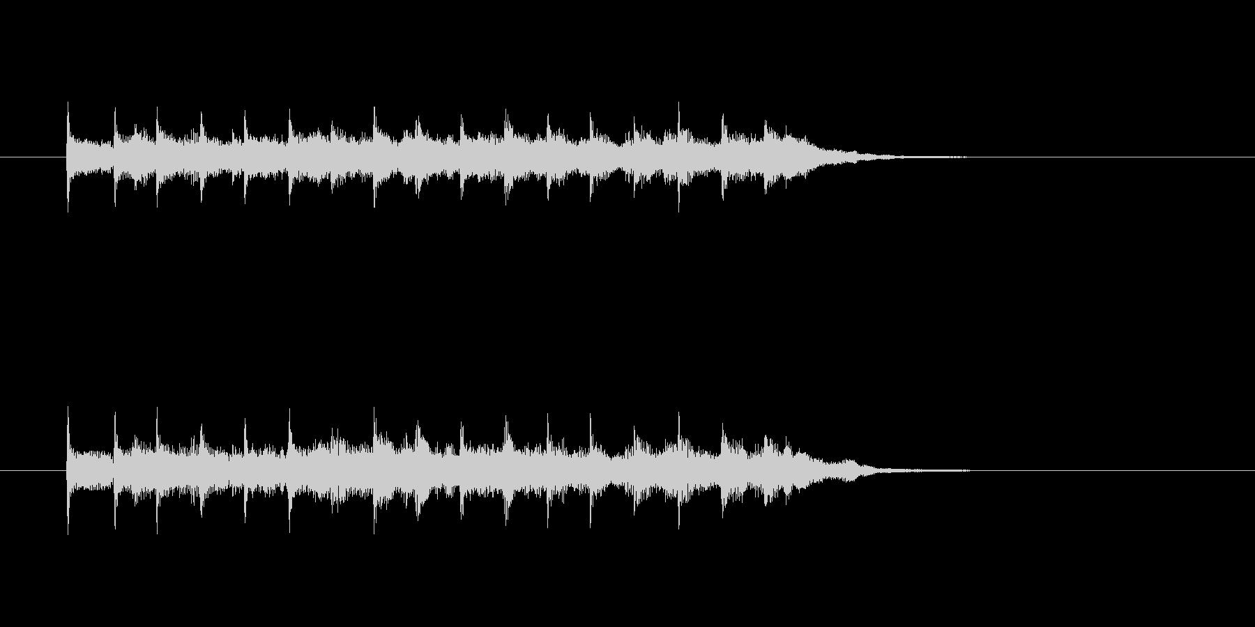 ジングル(4ビート風)の未再生の波形