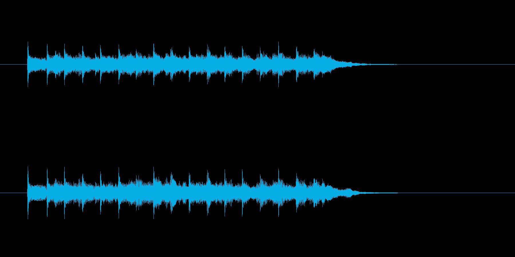 ジングル(4ビート風)の再生済みの波形
