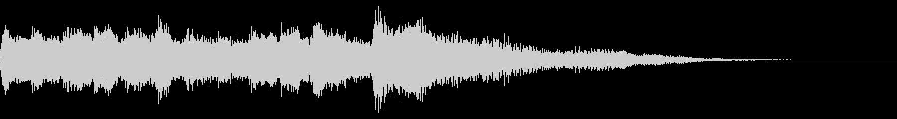 クリーンギターのアルペジオ 場面転換の未再生の波形