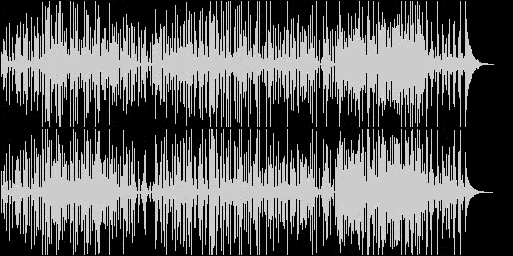 少し加工を加えたドラムの心地よいリズムの未再生の波形