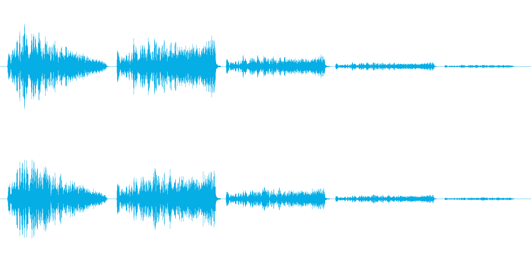 ワープするときや宇宙空間のような音の再生済みの波形