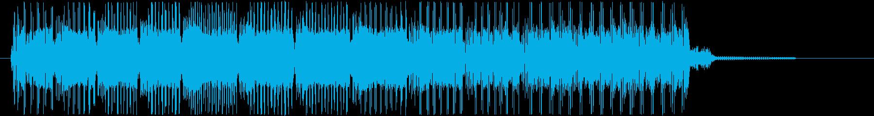 ファミコン風レトロなゲームオーバーの再生済みの波形