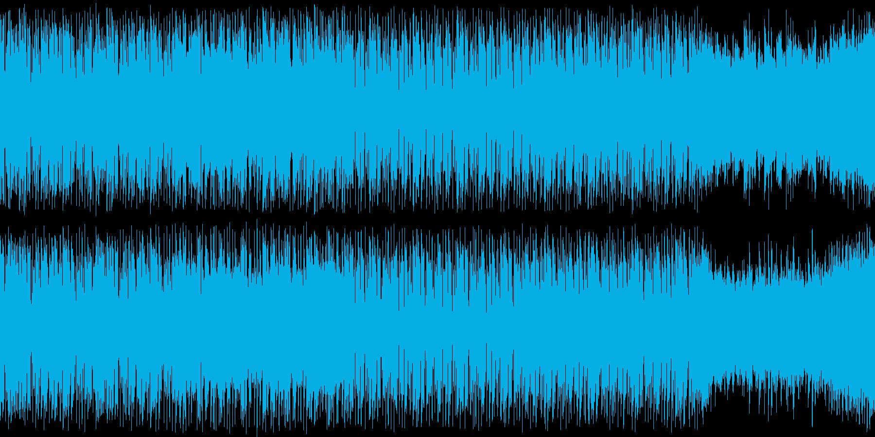 【ループ用】お洒落で怪しいゲームBGM2の再生済みの波形