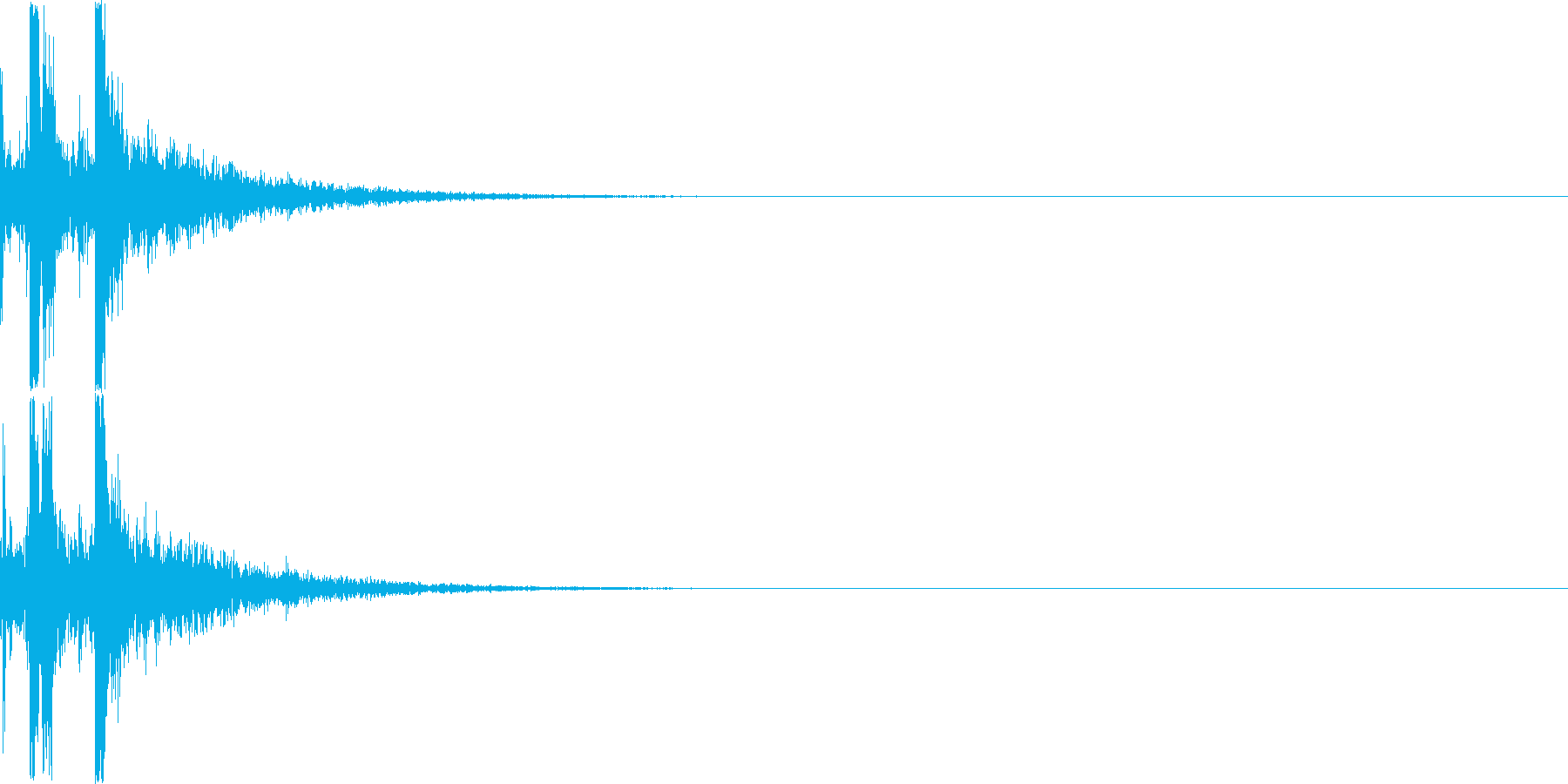 カチャリ(ダイアログを開く_03)の再生済みの波形