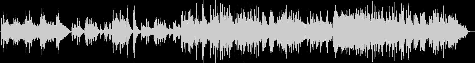 感動的でスローテンポなピアノの楽曲の未再生の波形