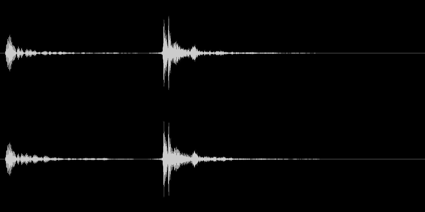 UI音(パカっの未再生の波形