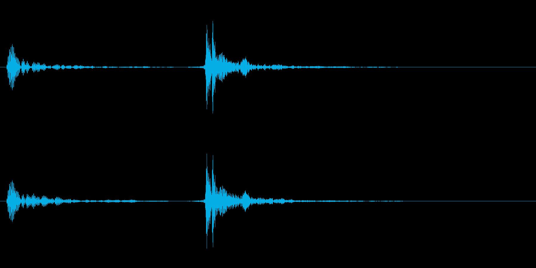 UI音(パカっの再生済みの波形