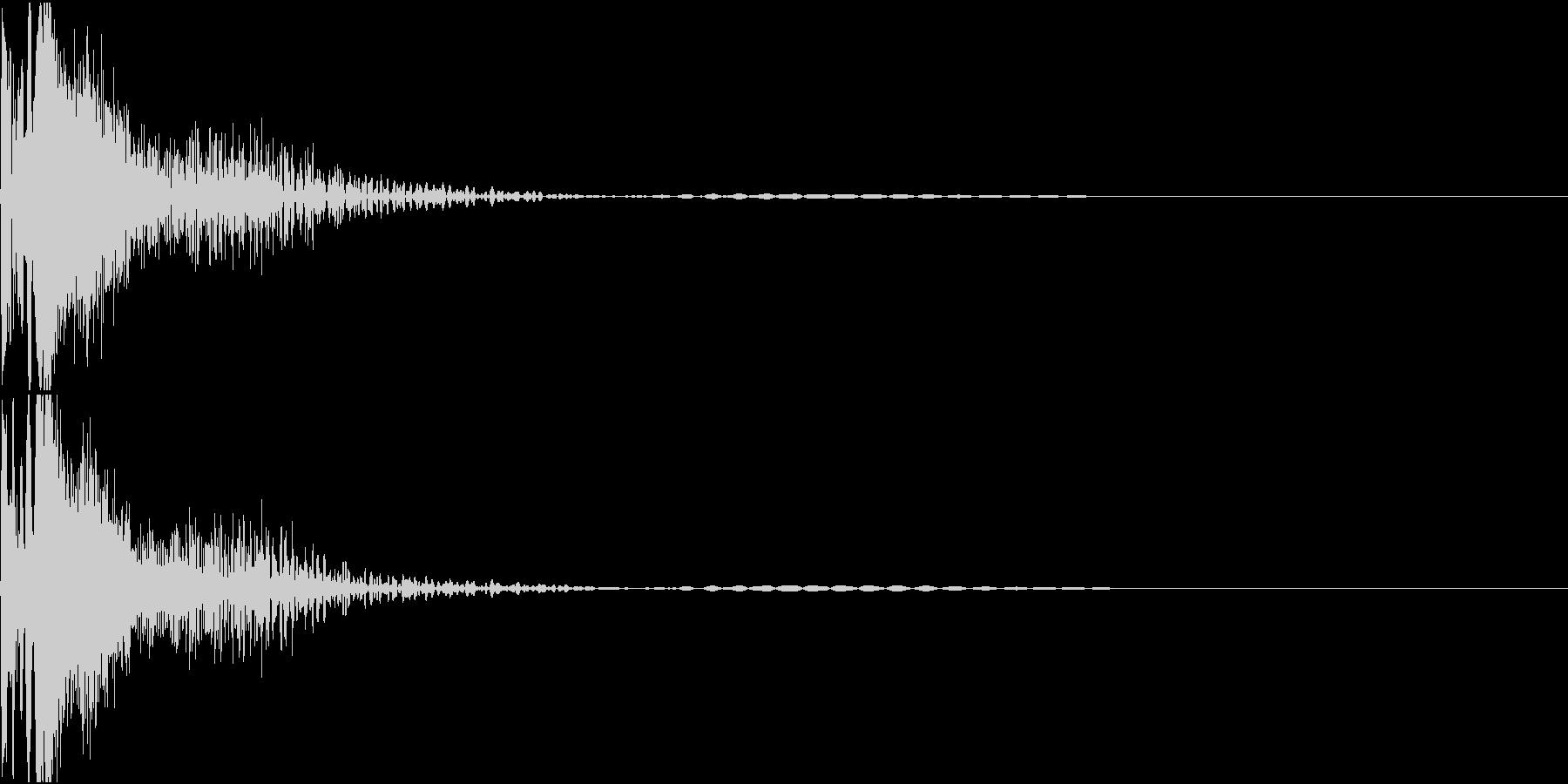laserGun SFチックな銃声の未再生の波形