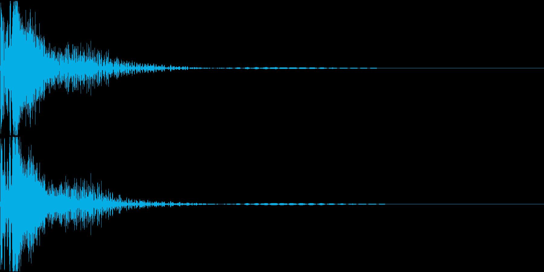 laserGun SFチックな銃声の再生済みの波形