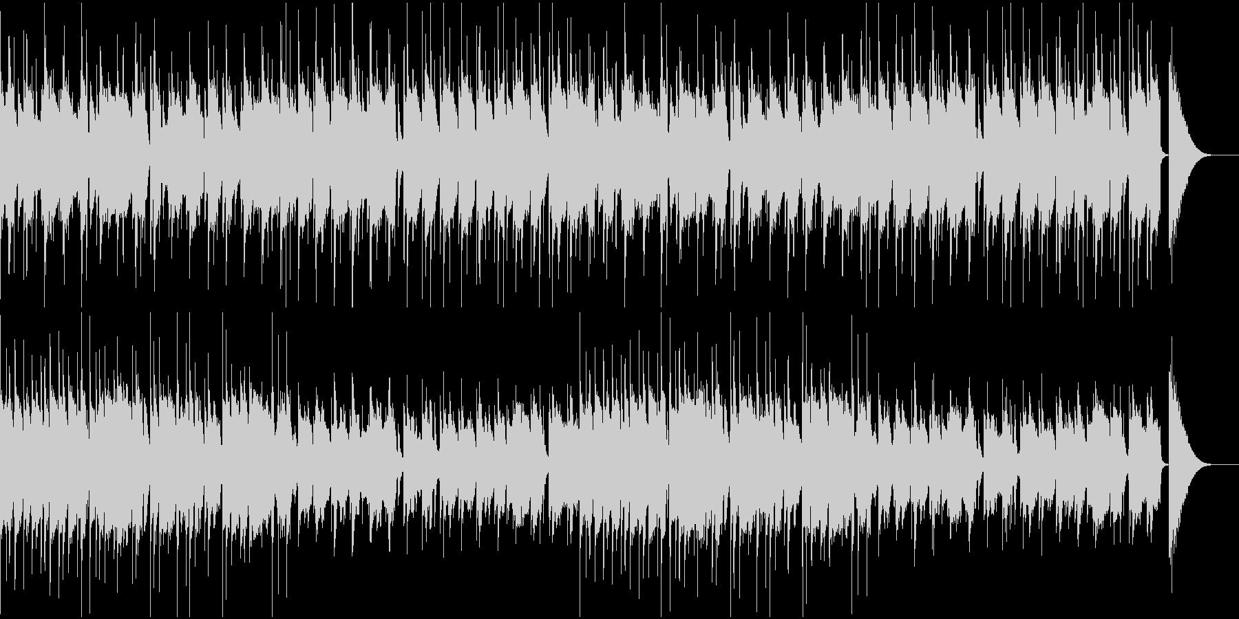 ウクレレとギターのほのぼのとしたポップスの未再生の波形