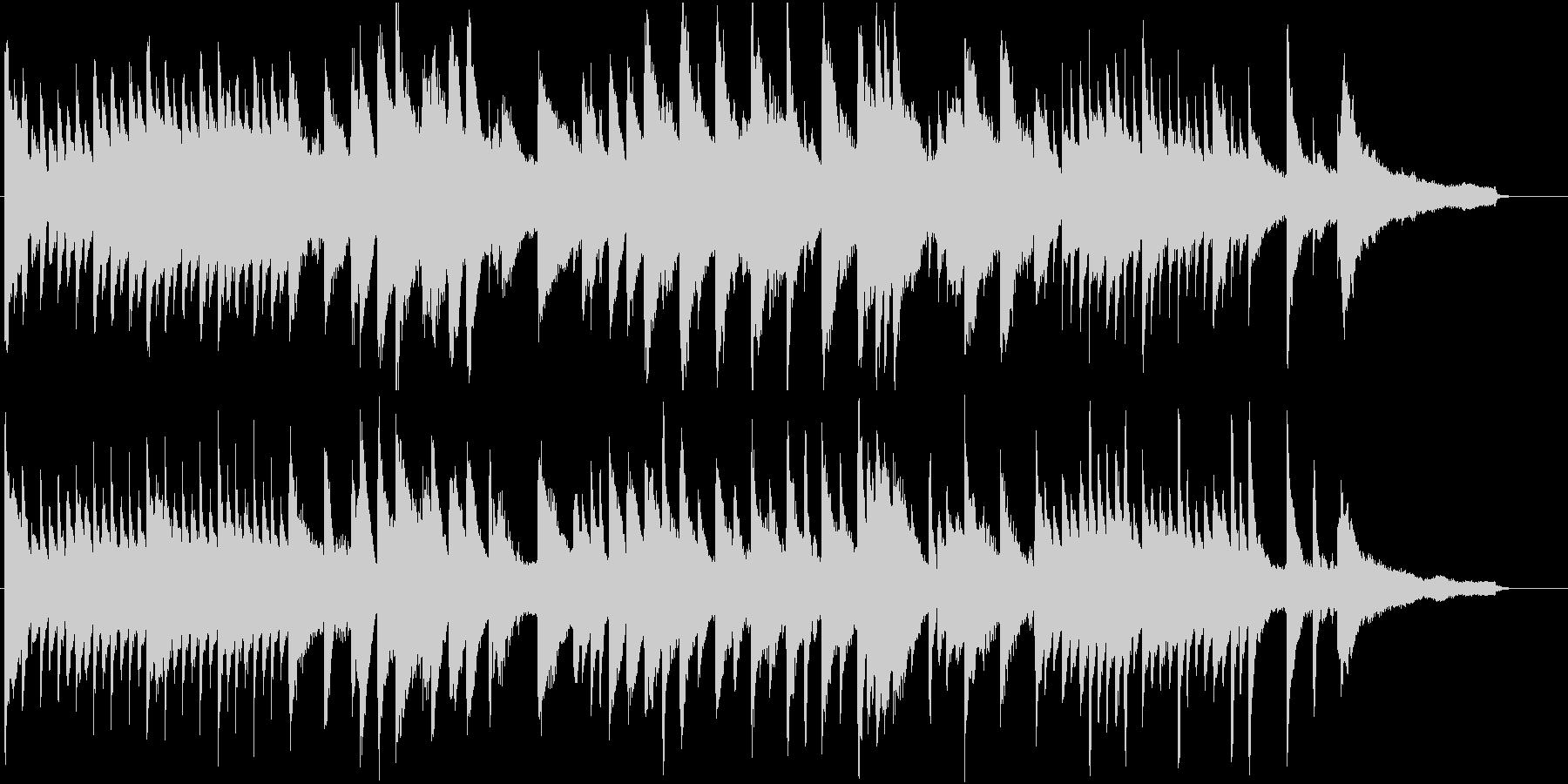 高音の粒が特徴のピアノソロ楽曲。CM等にの未再生の波形