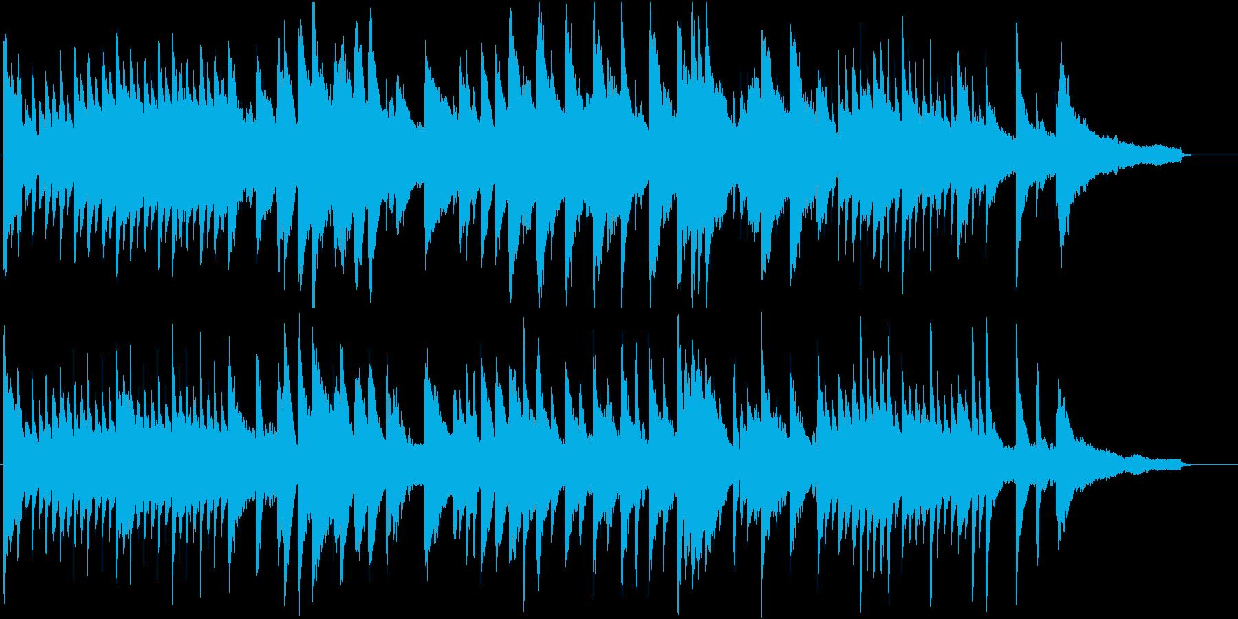高音の粒が特徴のピアノソロ楽曲。CM等にの再生済みの波形