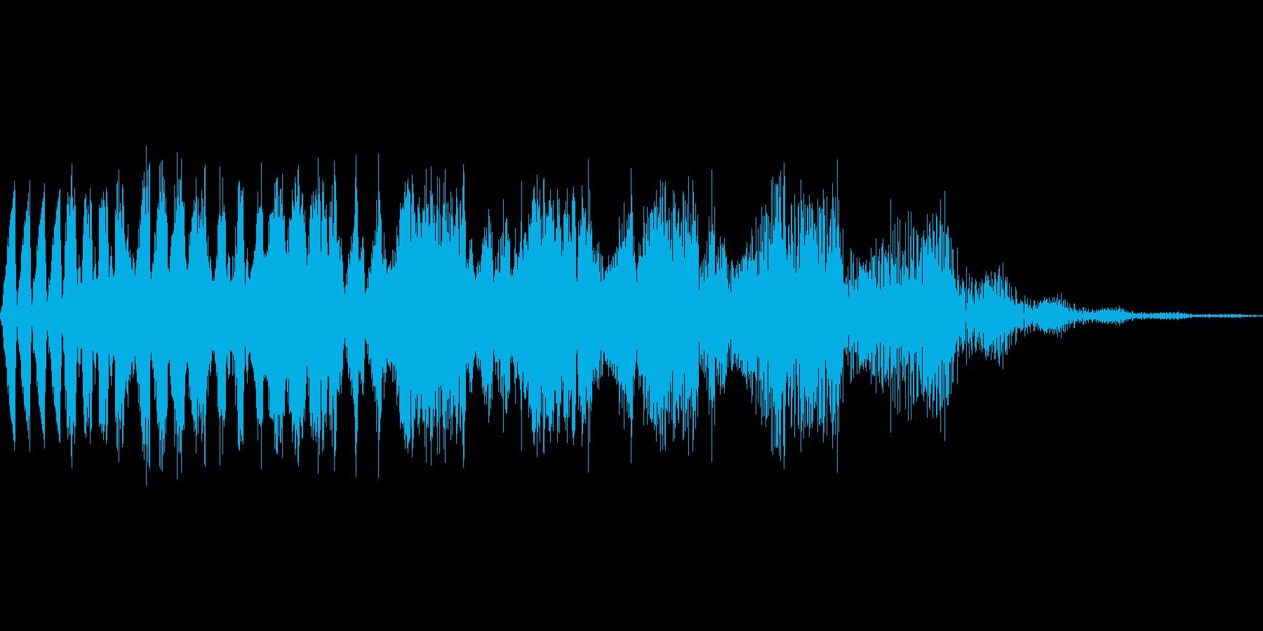 ステータスダウン系の下降音の再生済みの波形