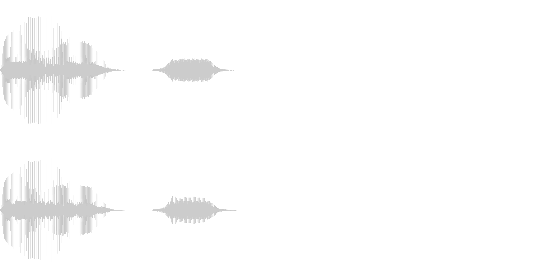 パフパフラッパ(気が抜ける)の未再生の波形
