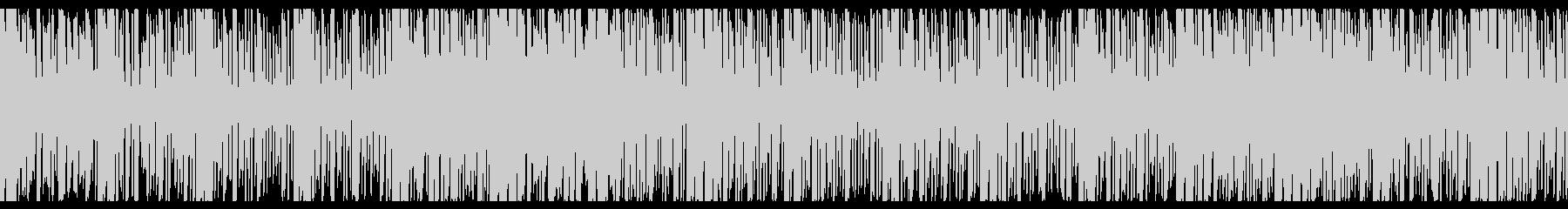 仮想通貨をイメージしたシンセ曲の未再生の波形