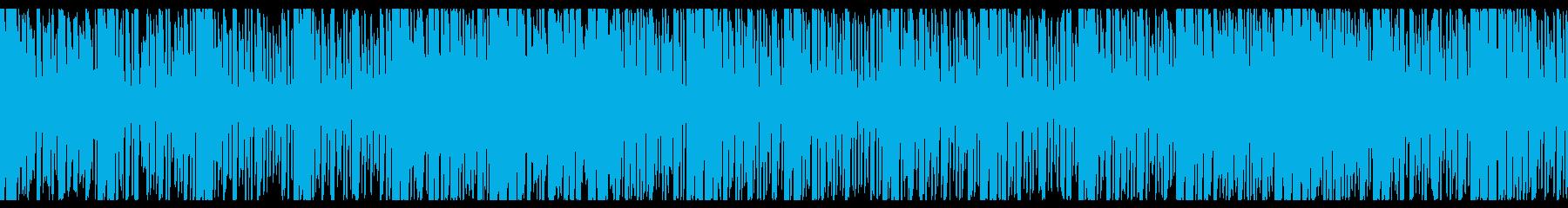 仮想通貨をイメージしたシンセ曲の再生済みの波形