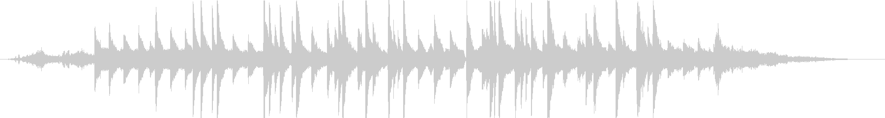 ヒーリングピアノの未再生の波形
