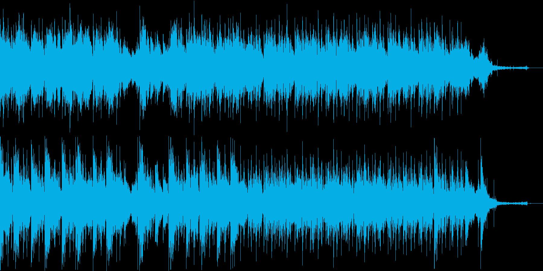 近未来的で機械的、冷静でクールなビートの再生済みの波形