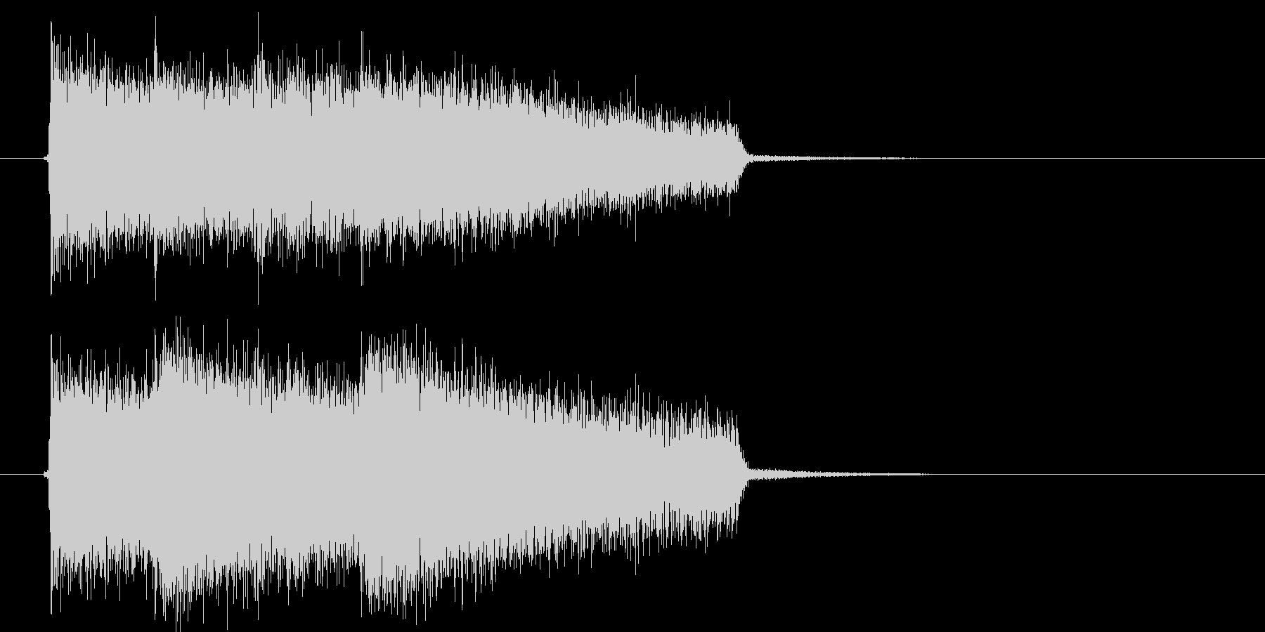 激しいロックサウンド(ゲーム、アプリ)の未再生の波形