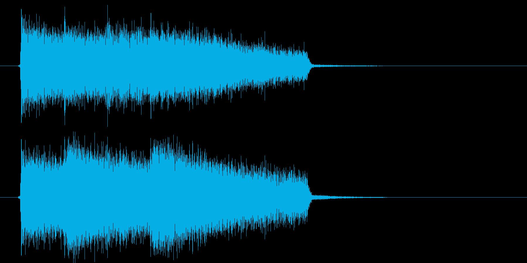 激しいロックサウンド(ゲーム、アプリ)の再生済みの波形
